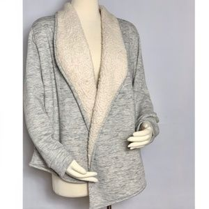 ST. JOHN BAY ACTIVE Cardigan Lined with Shearling